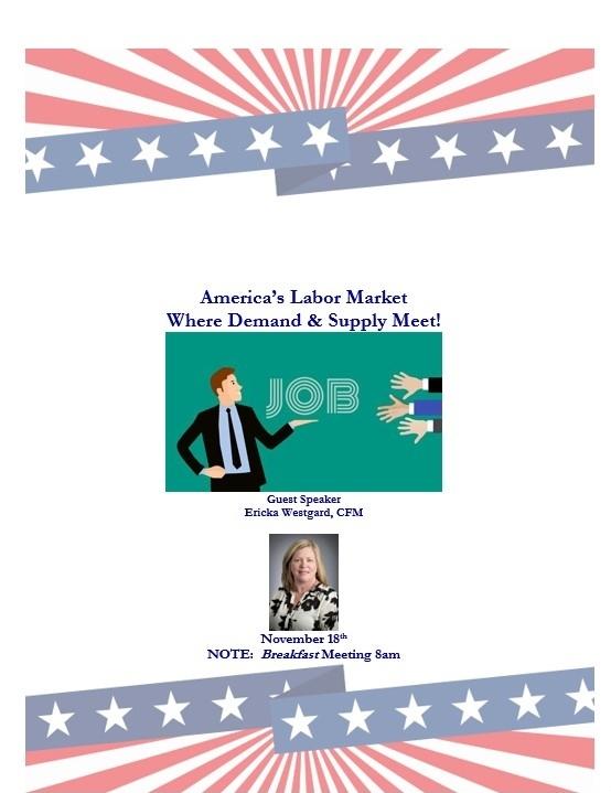 Labor market event with guest speaker Ericka Westgard
